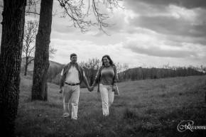 Audrey-Cécilia et Romain en séance photo pré-mariage St Pierre la Palud
